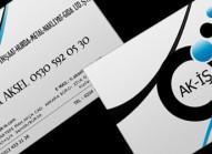 ak iş kartvizit tasarımı