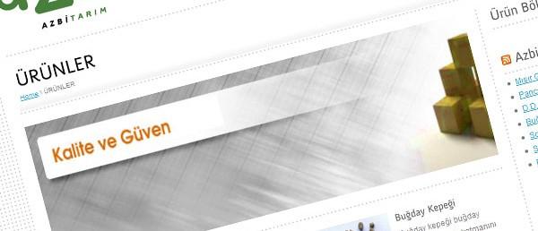 Azbi Tarım Web Tasarım