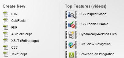 Dreamweaver site formatları