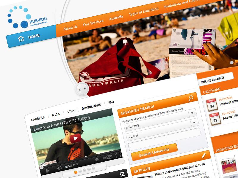 Hub edu web tasarım çalışması