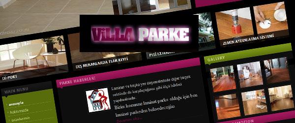 VillaParke Web Sitesi Tasarımı