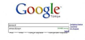 amacdizayn google araması