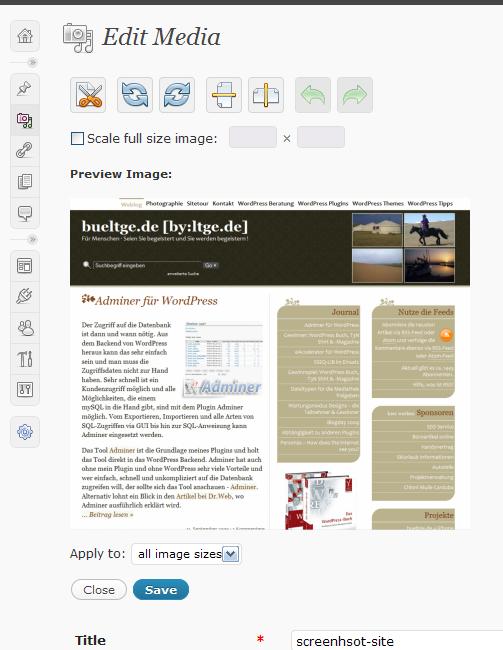 wordpress resim editörü