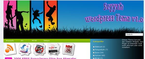 wordpress seyyah teması